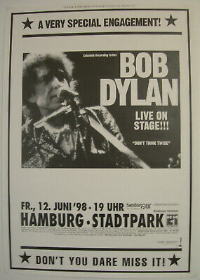 $29.95 • Buy Bob Dylan Concert Tour Poster 1998 Time Out Of Mind