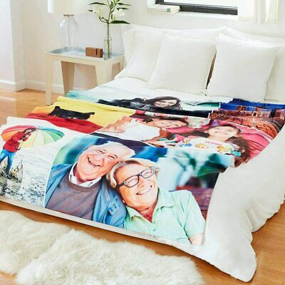 £37.95 • Buy Personalised Luxury Fleece Blanket- 2,3,4,6,9 Or 12 Images! Perfect For Gifts