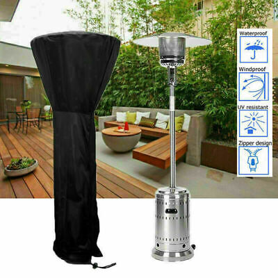 £8.29 • Buy Large Outdoor Garden Patio Gas Heater Cover Protector Polyester Waterproof Black