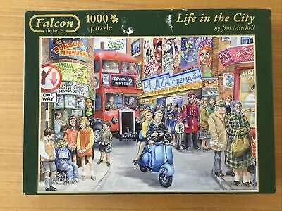 £1.99 • Buy 1000 Piece Jigsaw Puzzle 'Life In The City' By Falcon De Lux - ONE PIECE MISSING
