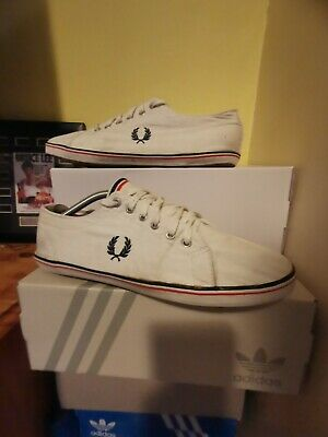 £16.98 • Buy Fred Perry Canvas Trainers Uk 11 White Plimsoles Shoes See All Pics