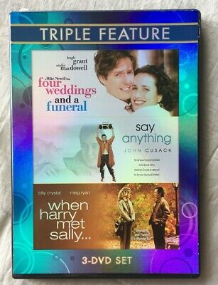 AU8.14 • Buy Four Weddings Funeral / Say Anything / When Harry Met Sally -Triple Feature DVD
