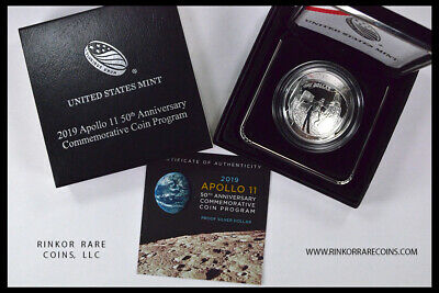AU51.18 • Buy 2019 U.s. Mint Apollo 11 50th Anniver. Proof Silver $1 Dollar Coin In Ogp !