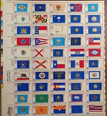 AU1.99 • Buy USA - BICENTENNIAL ERA MINT STAMP SHEET With 50 Stamps From Different States