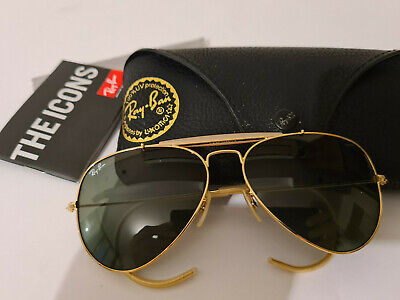 £58.30 • Buy Ray Ban Outdoorsman RB3030 L0216 Gold/Green Classic 58mm Sunglasses