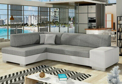 £670 • Buy Corner Sofa Bed FABIO With Storage Container And Sleep Function Springs New