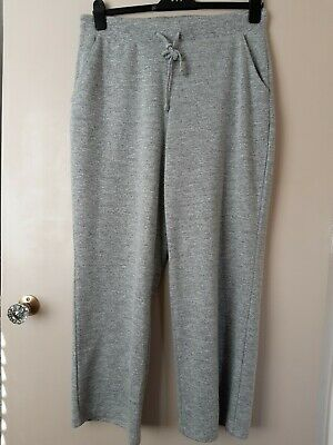 £5.20 • Buy Womens M&S Pull On Straight Leg Lounge Trousers Size 16  Pockets  Light Grey