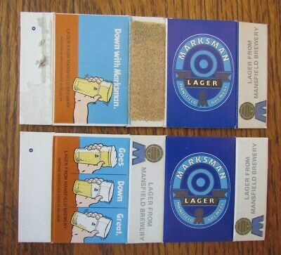 £3.53 • Buy Marksman Belgium Beer By Mansfield Brewery 2 Different Matchbook Matchcboxes -f1