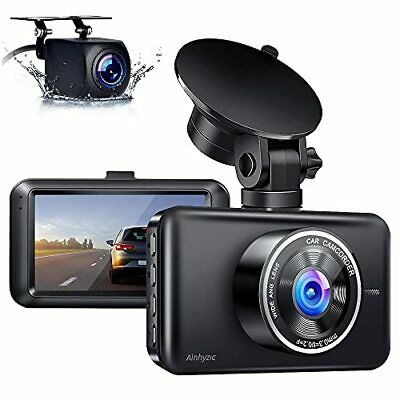 AU113.03 • Buy Ainhyzic Dash Cam Front And Rear 1080P FHD Dual Dash Camera For Cars With 3 I...