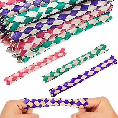 £2.59 • Buy 12 X Chinese Oriental Real Bamboo Finger Traps Party Bag Fillers Toys UK