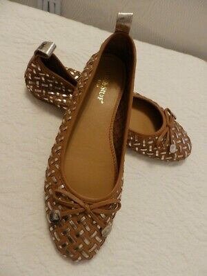 £14.99 • Buy White Stuff Whitney Tan Woven Ballerina Flats / Pumps Size 5 Leather With Box