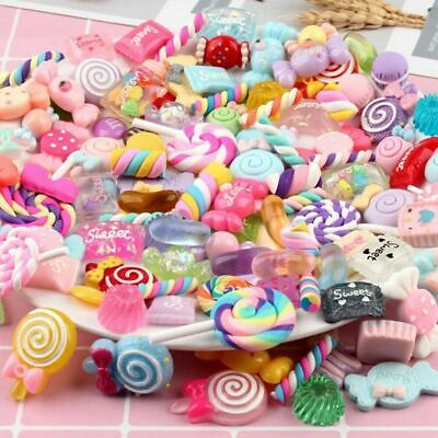 AU4.51 • Buy 8 Pc Accessories Slime Charms Beads Scrapbooking Supplies Crafts Nail Decoration