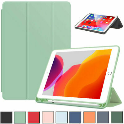 AU19.99 • Buy Smart Silicon IPad Case Cover&Pen Holder For Apple IPad 9/8/7/6/5th Gen Air Pro