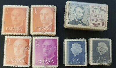 AU1.99 • Buy USA, NETHERLANDS & SPAIN - 7x Bulk Packs Of USED STAMPS