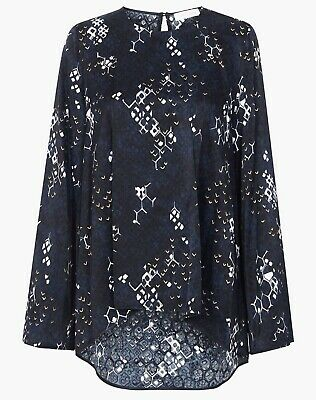 AU79 • Buy Sass And Bide Top 14 Animal Instincts Python Print Long Sleeve Relaxed Fit