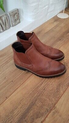 £10.50 • Buy Ladies/girls Tan Leather Ankle Boots Size 4 (37) VGC