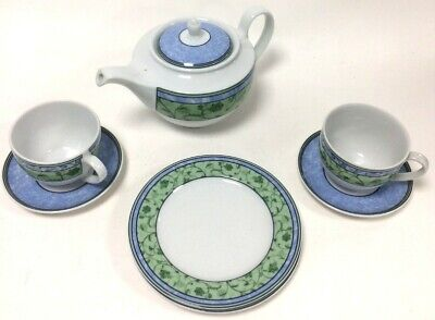 £9.99 • Buy Wedgewood Home Watercolour Fine China Tea Set For 2 In Good Condition