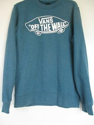 £5 • Buy Men's Vans Off The Wall Long Sleeved Dark Turquoise Top Size X-Small