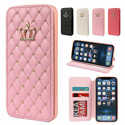 AU12.99 • Buy Wallet Leather Bling Diamond Case Cover For IPhone 13 12 11 Pro Max XS X XR 8 7+