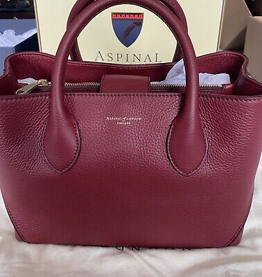 £295 • Buy Aspinal Of London Midi London Tote In Bordeaux BNWTS Rrp £550