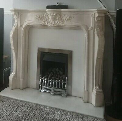 £100 • Buy Ornate Fireplace / Fire Surround / French Style / Louis / Resin / Not Plaster