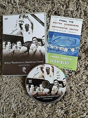 £10.75 • Buy Bolton Wanderers Vs Manchester United - FA Cup Final 1958 & Replica Programme