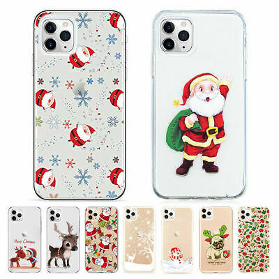 £3.95 • Buy Christmas Silicone Phone Case IPhone 11 Pro Max 7 8 SE XR X XS Max Clear - UK