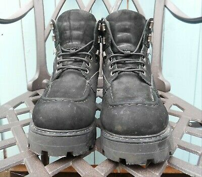 £15 • Buy  Vagabond Chunky Ankle Lace Boots Ladies Size 7 Black Nubuck Leather