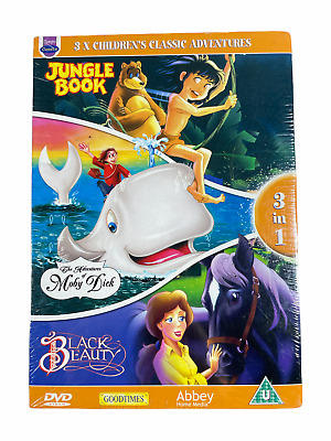 £7.90 • Buy 3 X Children's Classic Adventures [DVD] Jungle Book - Moby Dick - B Beauty | New