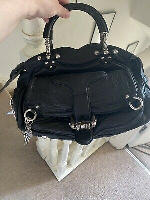 AU713.97 • Buy Fab Vintage Alexander McQueen Runway Black Leather Bag Very Cool And Stylish✨