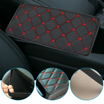 AU5.95 • Buy Red Accessories Car Armrest Pad Cover Center Console Box PU Leather Cushion Mat