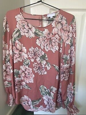 AU20 • Buy Witchery Pink Floral Blouse Size 16