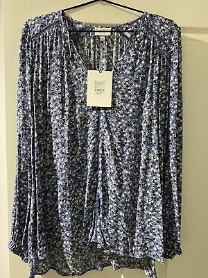 AU35 • Buy BNWT Witchery Blue Floral Print Top Size 14 RRP$119.95