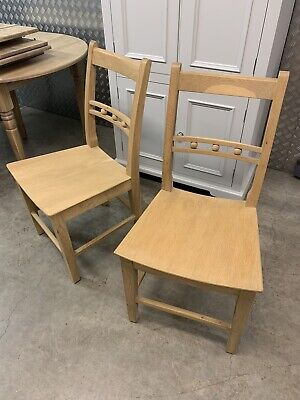 £495 • Buy Neptune Suffolk Solid Oak Kitchen Dining Room Chairs (Pair) + Seat Pads