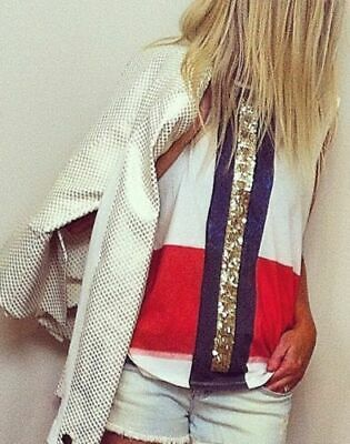 AU95 • Buy SASS & BIDE  Really Knowing  Embellished T-shirt Top Tee XXS