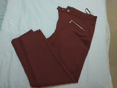 £2.50 • Buy Marks And Spencer The Mia 3/4 Crop Stretch Burgundy Soze 20