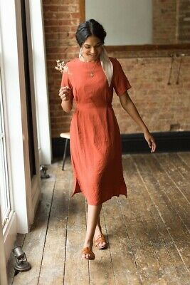 AU80 • Buy Olive Clothing Laura Belted Dress In Red Size 10 Fully Lined