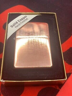 View Details Rare Solid Copper Zippo Lighter With Matching Insert 2004 Boxed. • 123.69£