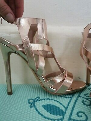 £5 • Buy Missguided Rose Gold Metallic Stiletto    Heels Shoes Size 4 (UK)