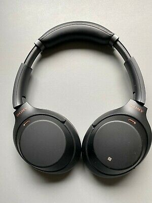AU174.75 • Buy Sony WH1000XM3 Wireless Noise Cancelling Headphones In Black On Ear Bluetooth