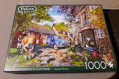 """£8.50 • Buy Falcon De-luxe """"The Blacksmiths Cottage""""1000 Pce Jigsaw Puzzle Only Did Once VGC"""