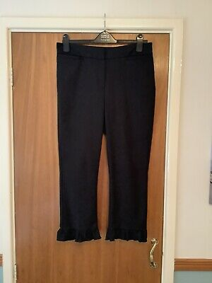 £7.50 • Buy Marks And Spencer Limited Edition Black Cropped Trousers Fluted Hem 12