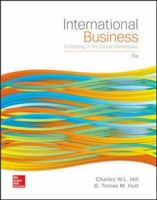 £11.62 • Buy International Business Hill Hult 11th Edition Hardcover Free Shipping Very Good