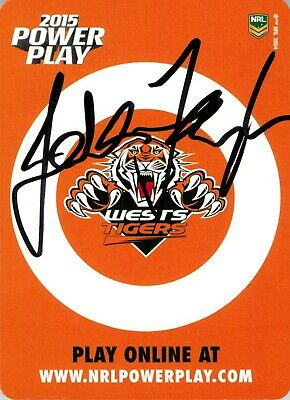 AU7.99 • Buy ✺Signed✺ 2015 WESTS TIGERS NRL Card JASON TAYLOR Power Play