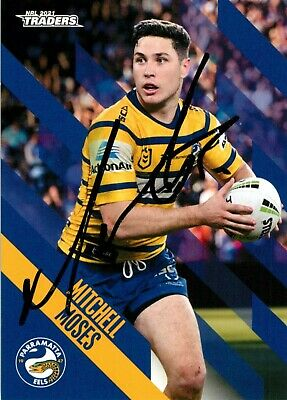 AU29.99 • Buy ✺Signed✺ 2021 PARRAMATTA EELS NRL Card MITCHELL MOSES