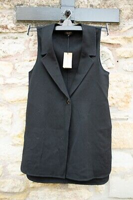 £30 • Buy INCREDIBLY Lovely Womens Jaeger Double Cast Wool Long Waistcoat Size Small BNWT