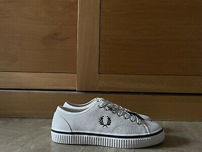 £9.99 • Buy Fred Perry Trainers Shoe Suede Size 8uk Of White New Rrp £100