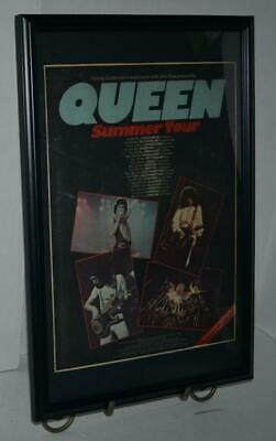 $59.99 • Buy Queen 1977 Summer Tour  W / Tour Dates Framed Promotional Concert Poster / Ad