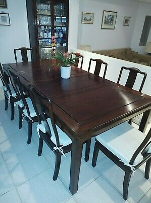 AU600 • Buy Rosewood Dining Table & Chairs 223 Cm (L) X 112 Cm (W) X 76 Cm (H)
