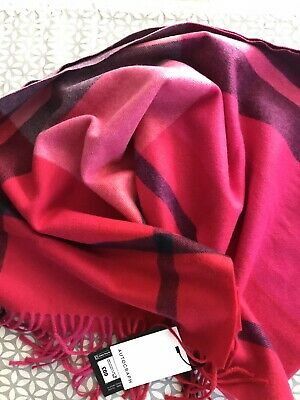 £52 • Buy Marks And Spencer -Autograph-M&S  Pure Cashmere Checked Scarf BNWT FREE P&P RED